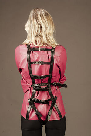 Straightjacket in soft pink PU Leather