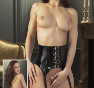Vinyl Suspender Belt black