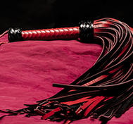 Leather Whip 108-tailed Red/Black Genuine