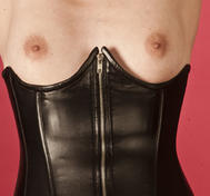 Leather corset underbust