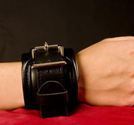 Padded Leather Lockable Wrist Restraints